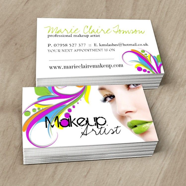 Edgy makeup artist business card template card design pinterest fully customizable makeup artist business cards created by colourful designs inc colourmoves