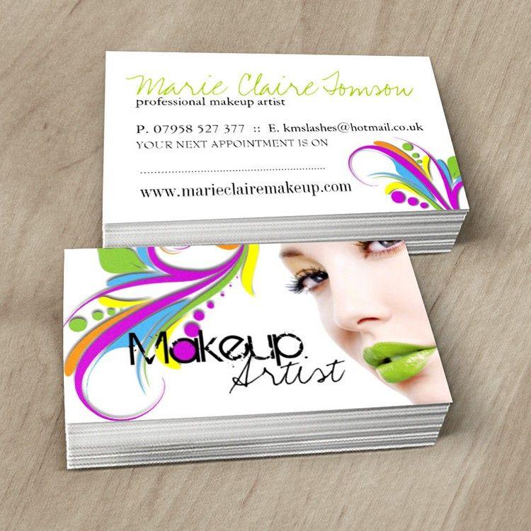 BOLD and HIP MAKEUP ARTIST BUSINESS CARD | Makeup artist business ...