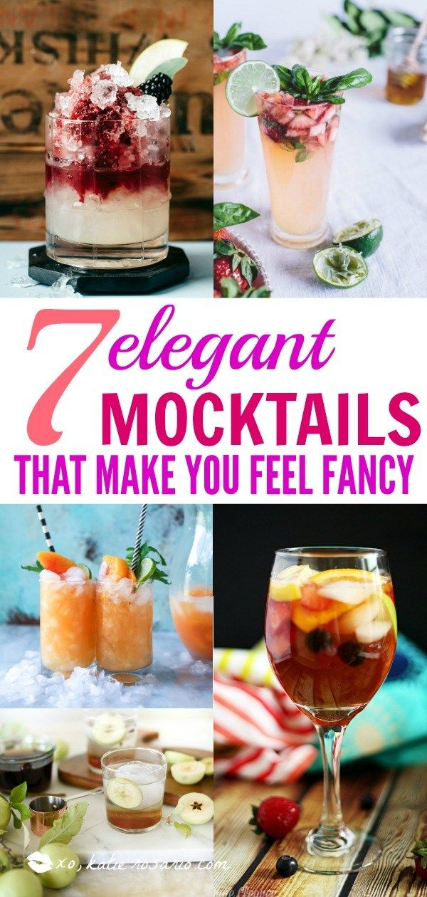 7 Elegant Mocktails That Make You Feel Fancy #summeralcoholicdrinks