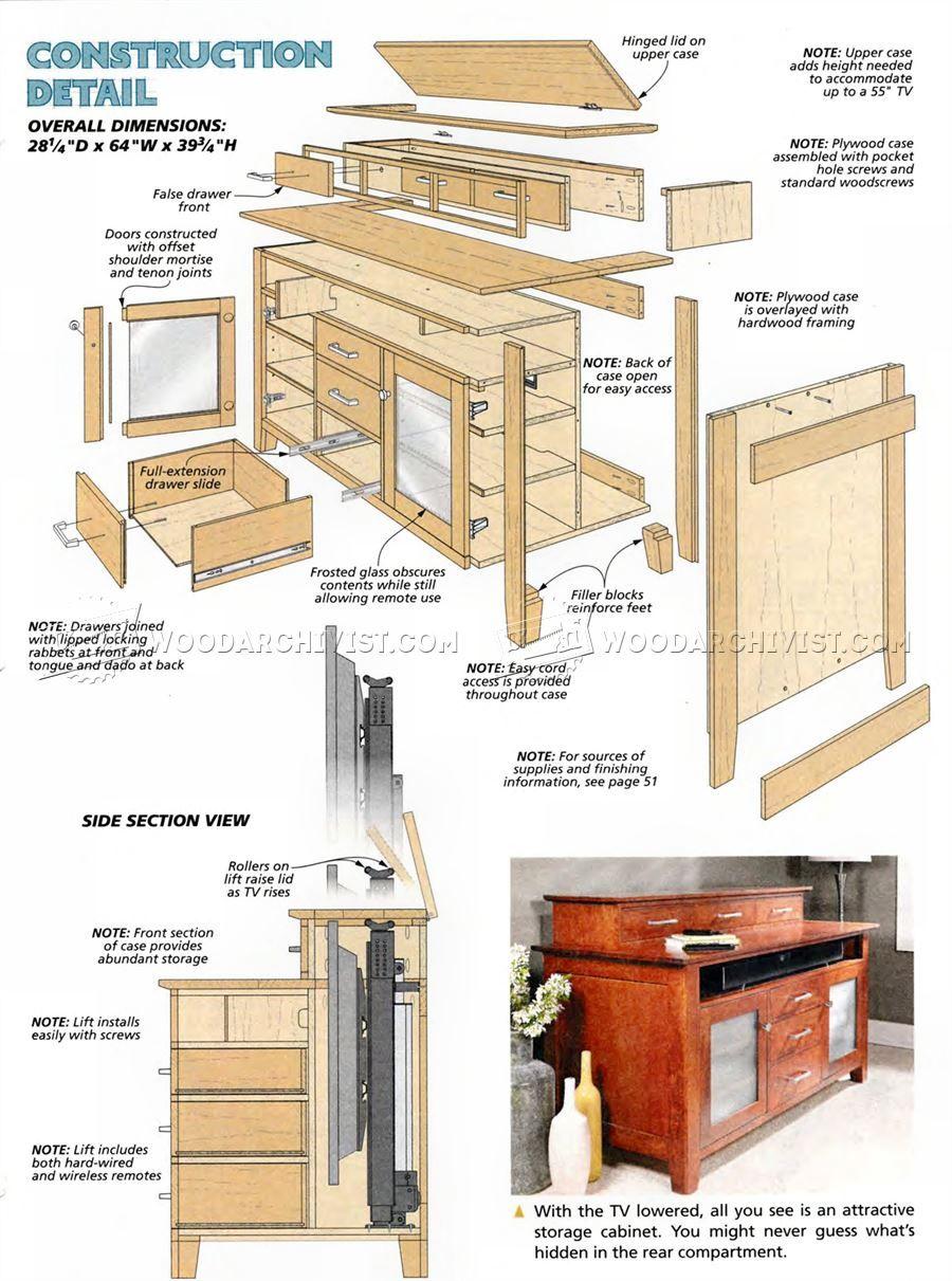 Superieur #1941 TV Lift Cabinet Plans   Furniture Plans