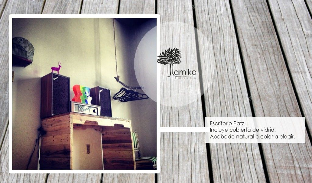 Hacemos muebles de madera 100% reutilizada de tarimas o pallets visita www.amikoespacios.com y pide los tuyos.