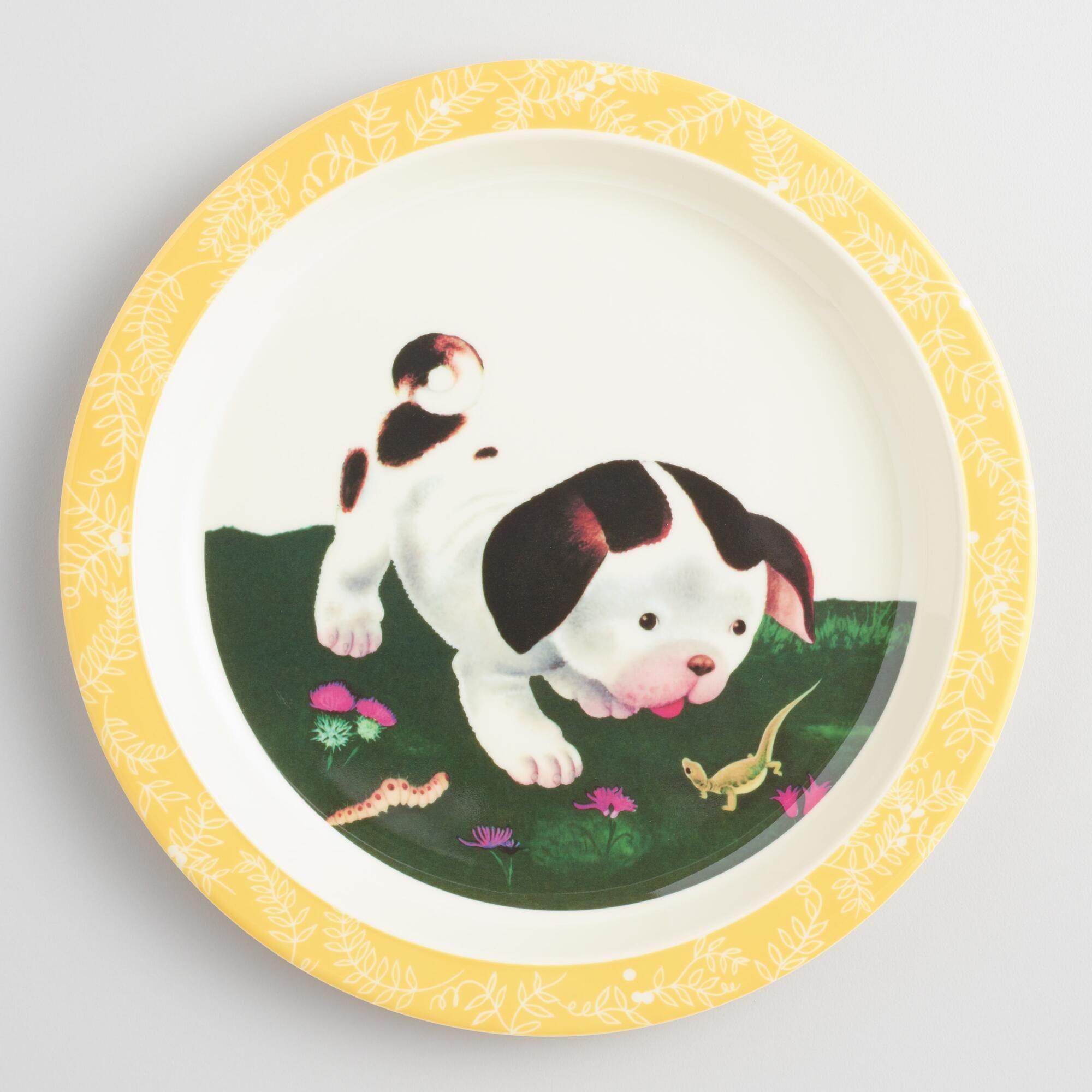 Kids Dinnerware Kids Plates Melamine Plates World Market Dog Books Little Puppies Little Golden Books