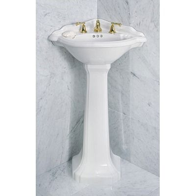 St Thomas Creations Barrymore Corner Pedestal Sink Home Goods