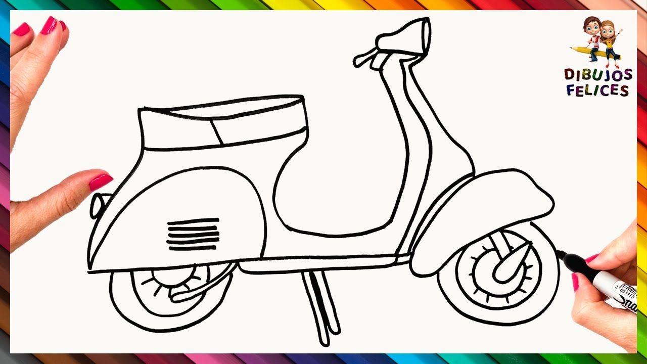 Como Dibujar Un Moto Paso A Paso Y Facil Como Dibujar Una Moto Ninos En Moto Como Dibujar