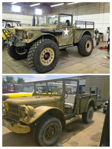 M37 before and after | baertrax m37 power wagon | Dodge trucks