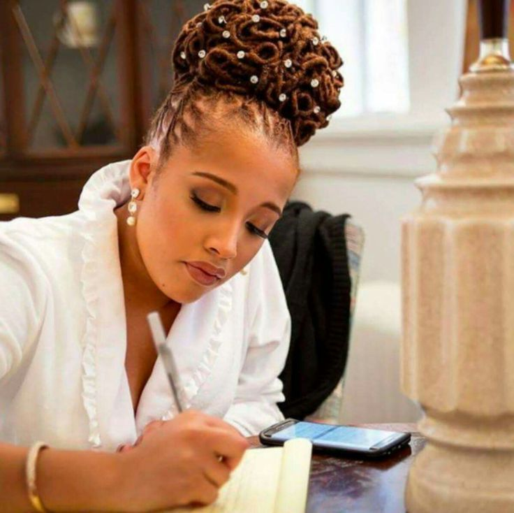 Wedding Locs Hair Inspiration For Brides With