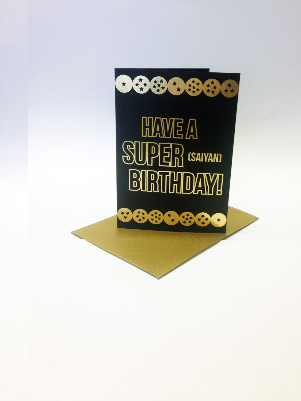 Have a super Saiyan birthday Dragonball Z inspired birthday – Birthday Cards Printed