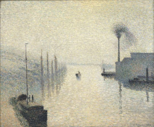 Camille Pissarro - L'Île Lacroix, Rouen (The Effect of Fog) 1888