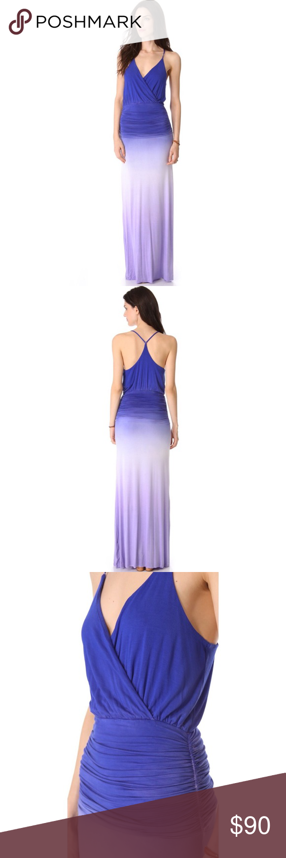 Young Fabulous & Broke Maxi Dress Beautiful ombré maxi dress! Size medium but fits more like a small. Stunning color and amazing quality dress! Worn once! Young Fabulous & Broke Dresses Maxi