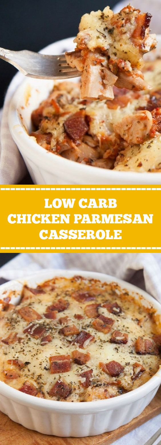 Low Carb Chicken Parmesan Casserole   This recipe is high in fat and protein, we use cooked chicken (either breast or thigh), parmesan, mozzarella as the main ingredients. #lowcarb #keto #casserole   geniusrecipes.club #chickenparmesan