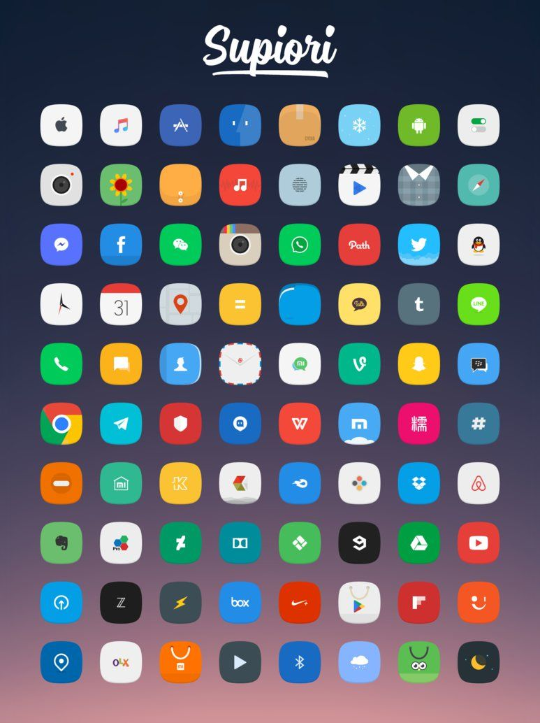 Supiori Icons Flat Design Icons Themes For Mobile Icon