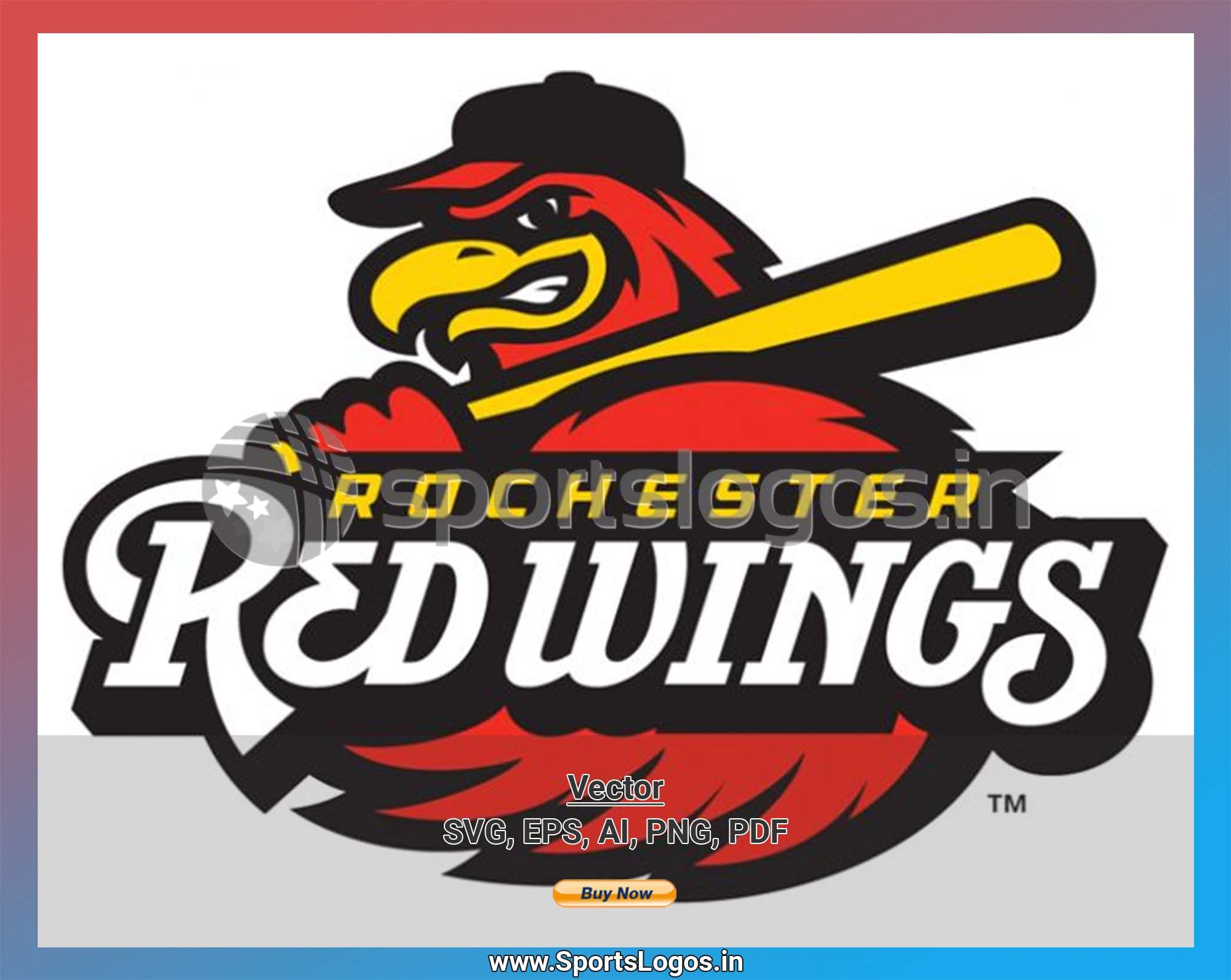 Rochester Red Wings Baseball Sports Vector Svg Logo In 5 Formats Spln003673 Sports Logos Embroidery Vector For Nfl Nba Nhl Mlb Milb And More Red Wing