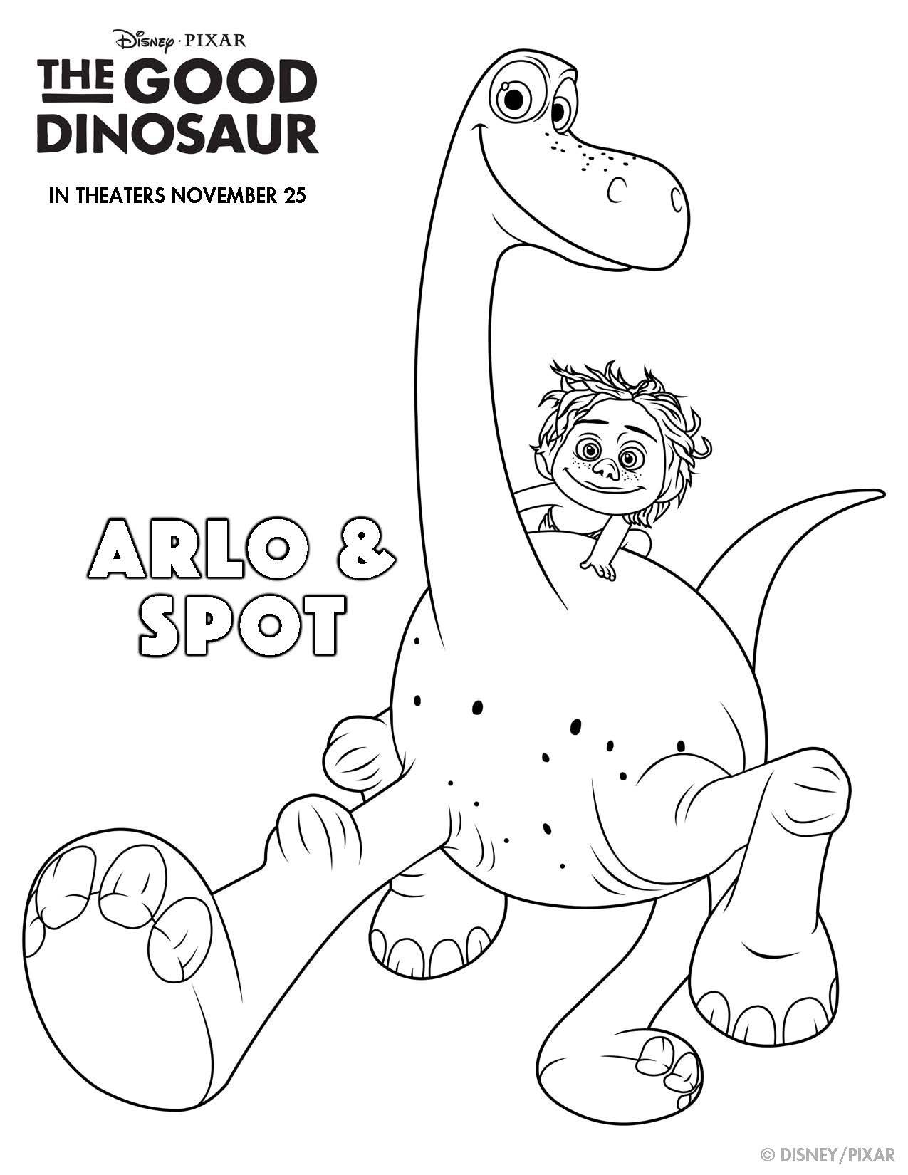 Disney Pixar S The Good Dinosaur Printables To Make Your Family Movie Night Extra Fun Free Disney Coloring Pages Dinosaur Coloring Pages Disney Coloring Pages