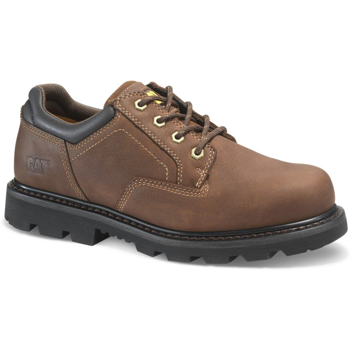 Caterpillar P74133 Ridgemont 2 0 Work Shoe Men's Cat Footwear Black  7 Medium is part of Steel toe work shoes - 75 EH Electrical Hazard Protection rated to protect against open circuits up to 600 volts in dry conditions  Goodyear Welt Construction provides maximum durability while offering forefoot flexibility  Full Grain Leather Upper delivers longterm durability and protection