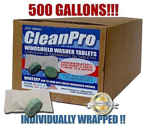 (200�Taben) cleanpro Windschutzscheibe Waschmaschine und Bug Entferner Tablets. Macht 500�Gallonen. (versandkostenfrei)