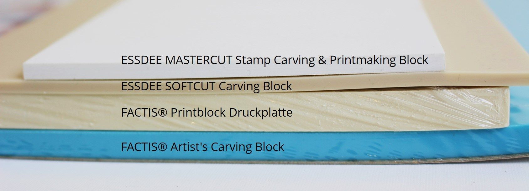 Stempelgummi für Keramik und Papier StempelgummiMaterialien