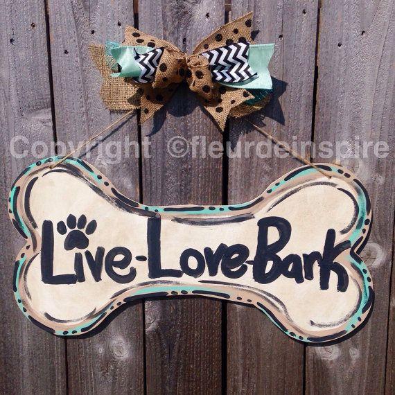 Custom Dog Bone Door Hanger Custom By Fleurdeinspire On Etsy Diy