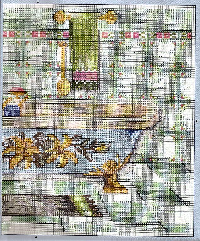 Картинки ванная вышивка крестом