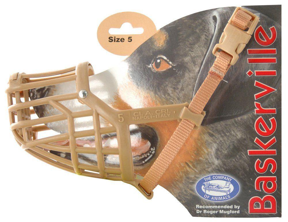 Baskerville dog muzzle size 5 breeds etc tried