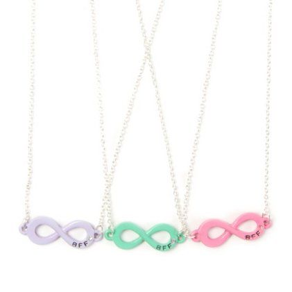 d1a41257a1ce2 Best Friends Forever Pastel Infinity Symbol Pendant Necklaces Set ...