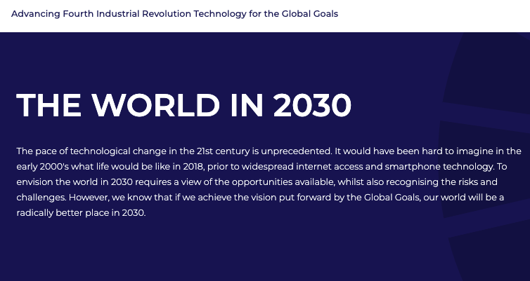 2030 Vision The World In 2030 In 2021 Fourth Industrial Revolution International Energy Agency Technological Change