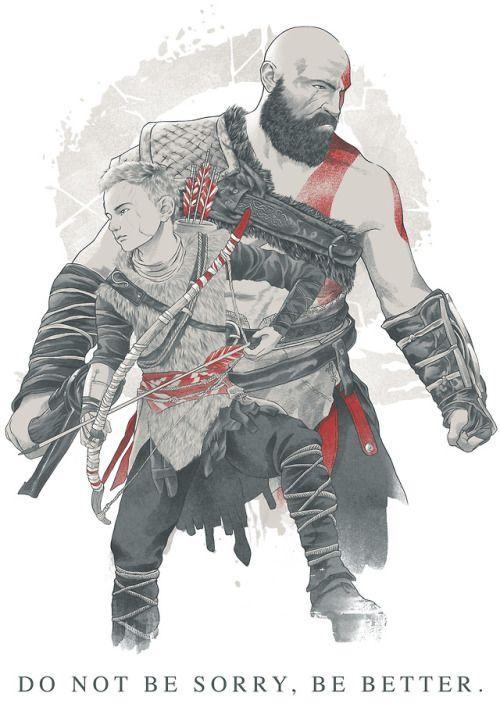 God Of War Atreus And Kratos Desenho Dos Vingadores Gods Of War