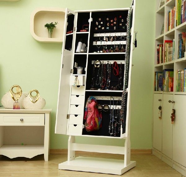 Aidi Can Double Bedroom Door Wooden Jewelry Cabinet Full Length Mirror  Mirror Dressing Mirror Jewelry At