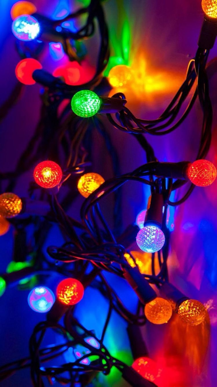 New Year 2015 Colorful Lights Decoration iPhone 6