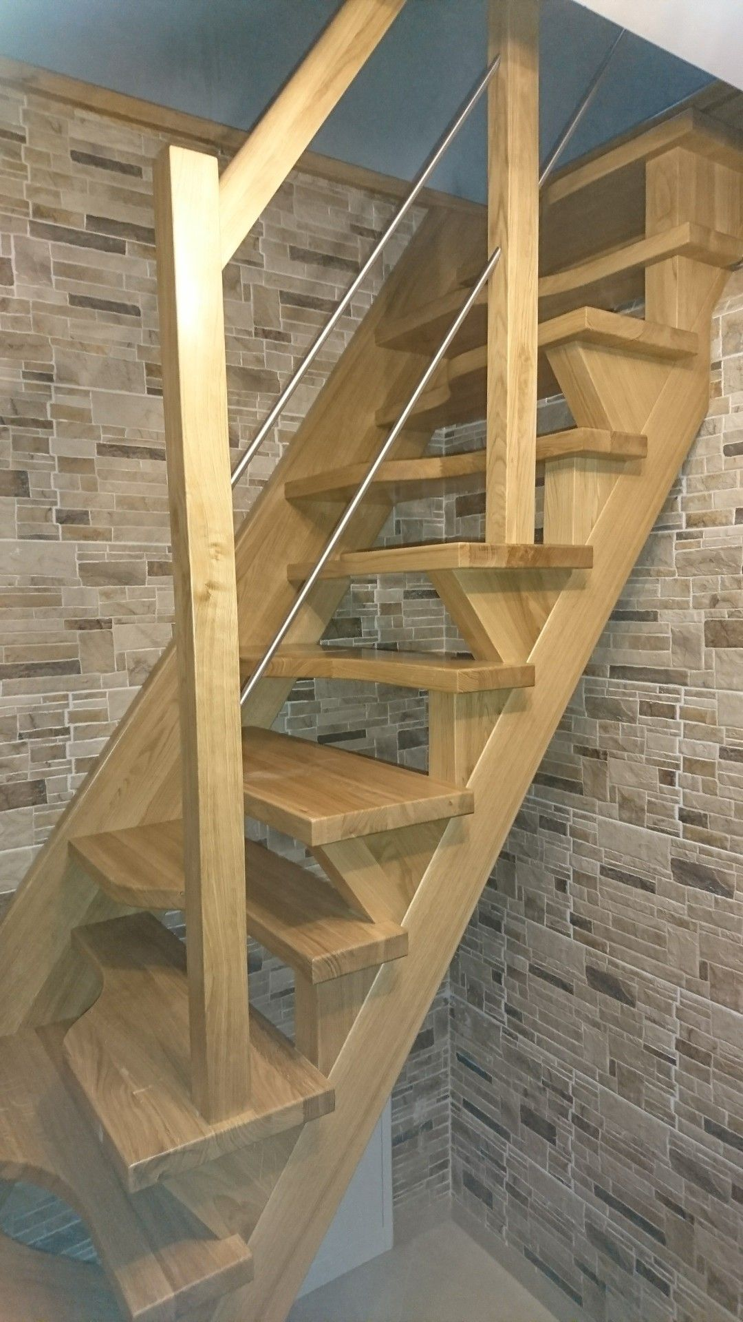 Attic Stairs With The Left And Right Style Steps Stairs Design Stairs Diy Stairs