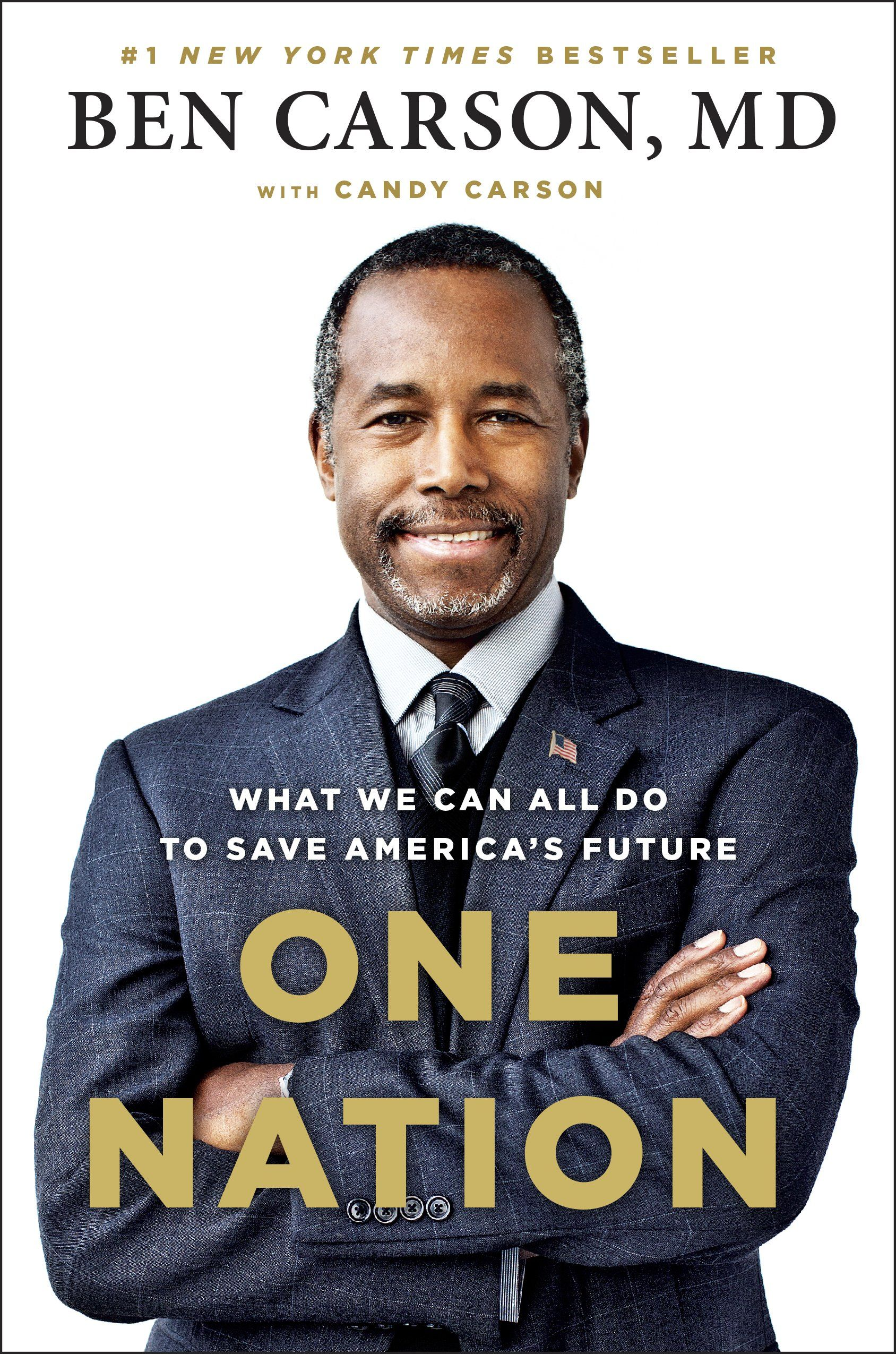 One Nation by Ben Carson Books 2016 Candy carson, Ben