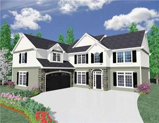 House Plan 189 1013 5 Bdrm 3 263 Sq Ft Colonial Home Theplancollection Craftsman House Plans L Shaped House Colonial House