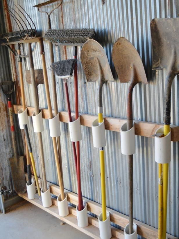 Garage Organization: Hook and Hanger Ideas
