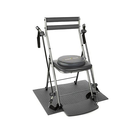 Chair Gym Exercise System With Twister Seat Attach To Stool Mat Dvds Work It
