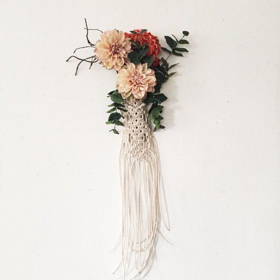 Bohemian Bride Macrame Wedding Bouquet Wrap Bouquet Holder