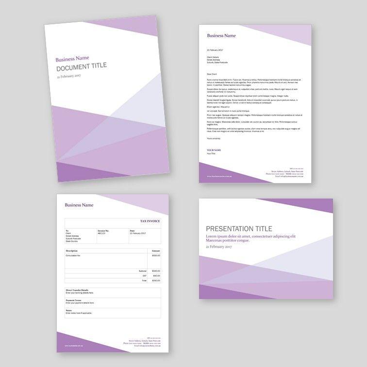 Corner Set - basic report template