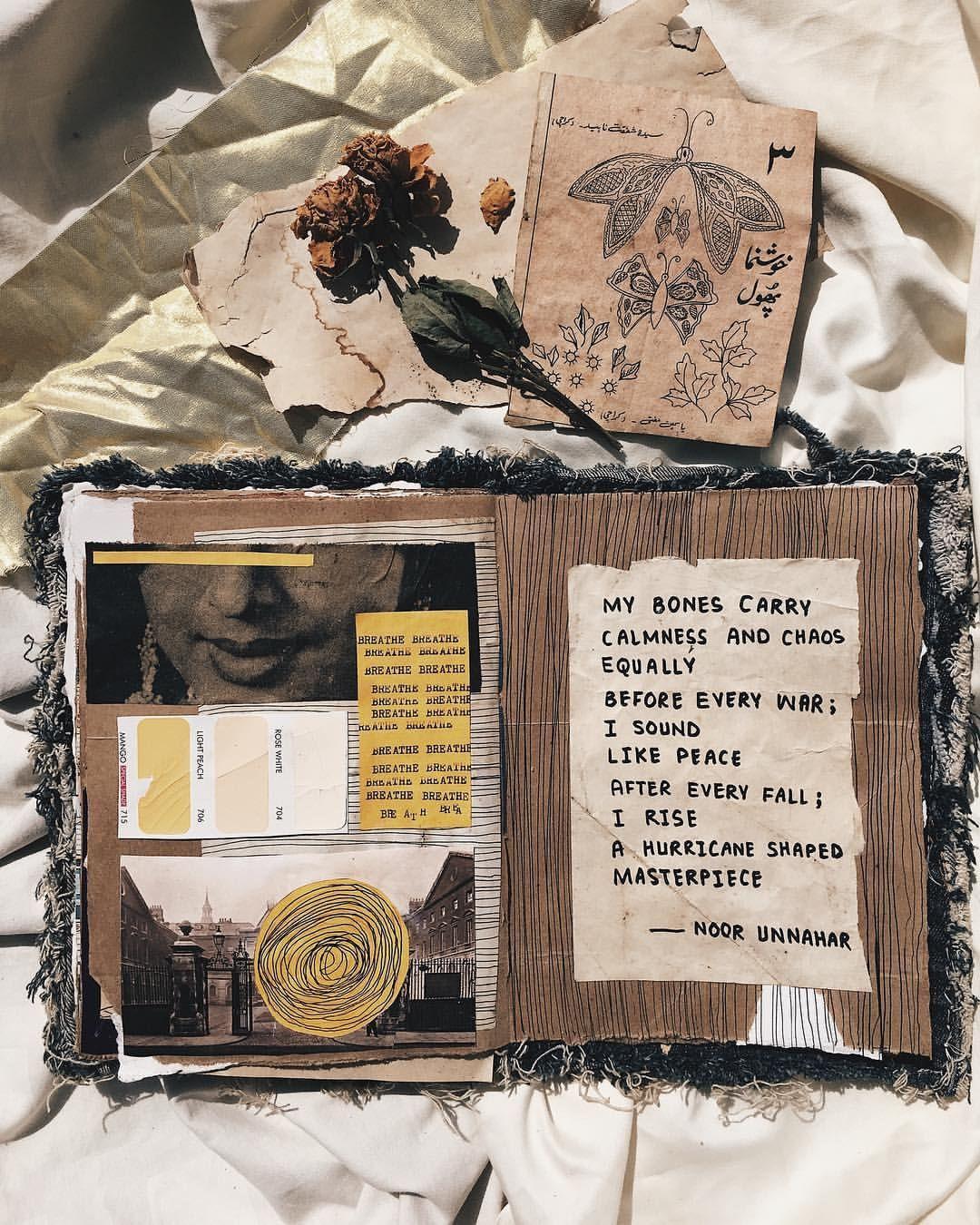Hair Ideas Zeitschrift: A Hurricane Shaped Masterpiece // Poetry + Art Journal By