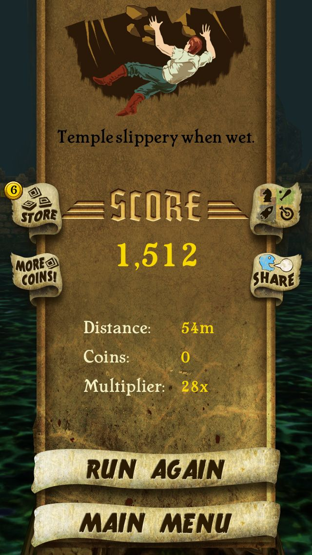 I got 1,512 points while escaping from demon monkeys. Beat that! http://bit.ly/TempleRunGame #TempleRun