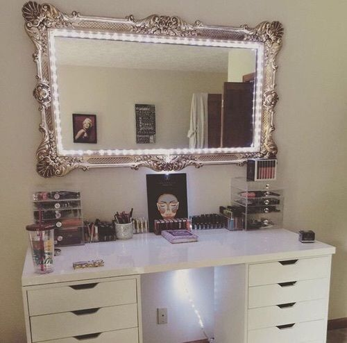 Use Rope Light Or Led Strip Lights From 1000bulbs Com To Get All Around Illumination For Your Makeup Mirror Diy Vanity Mirror Beauty Room Diy Vanity