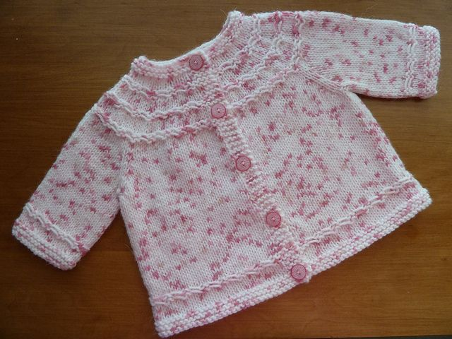 modifications to the free pattern, Seamless yoked baby sweater by ...