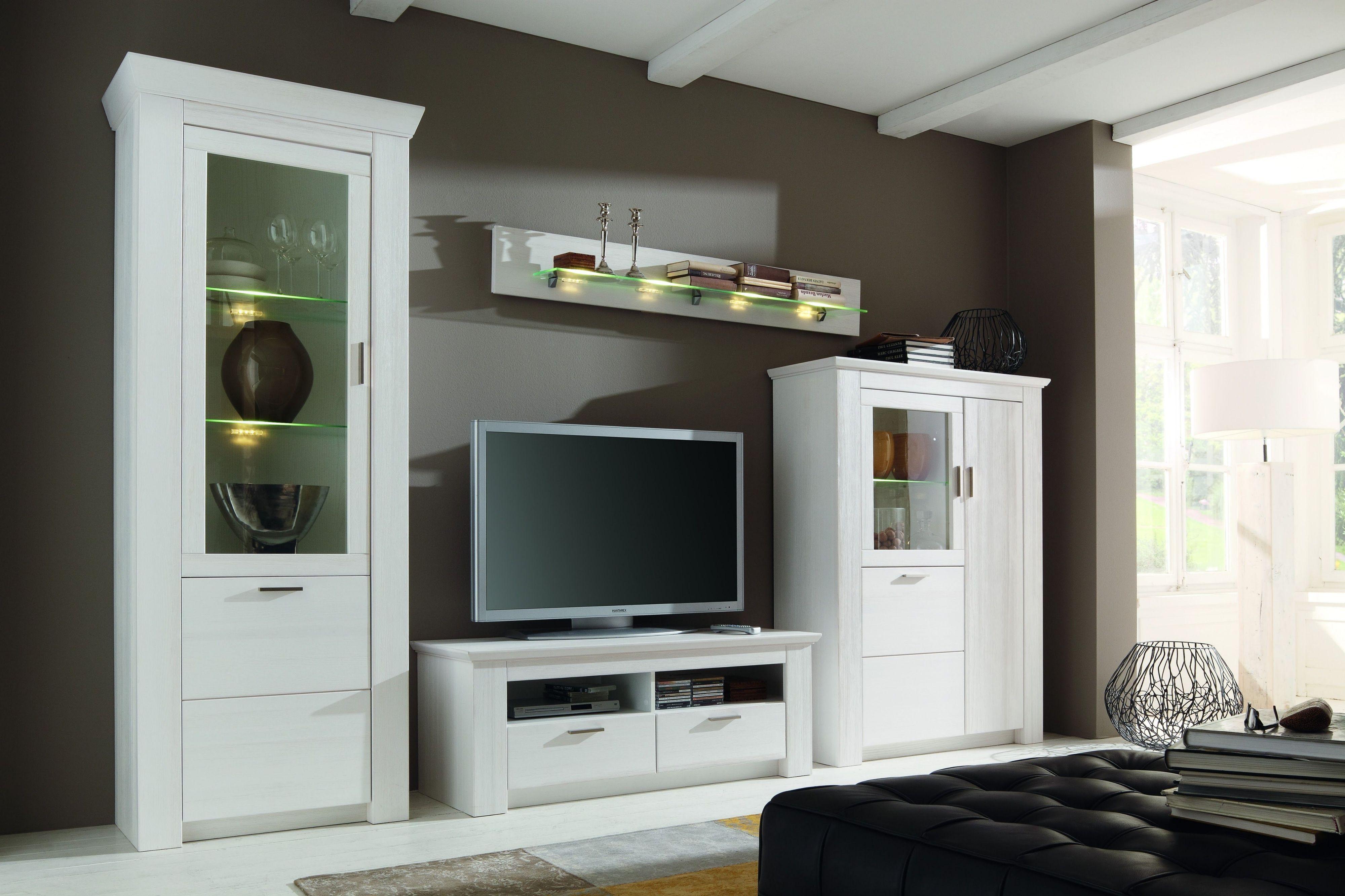 Beeindruckend Wohnwand Holz Weiß Dekoration Von Polarpinie Teilmassiv Weiss Woody 35-00146 Jetzt Bestellen