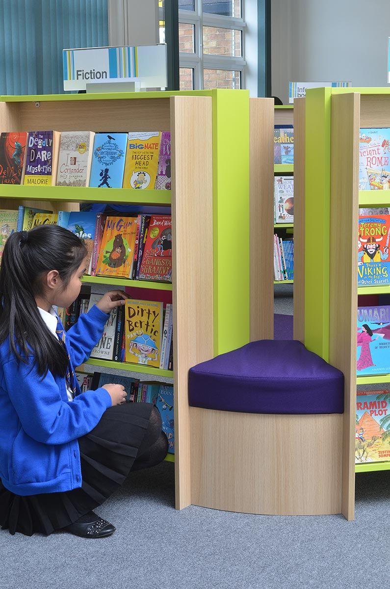 Wonderful Girl Browsing School Library Bookshelves School Library Decor, Elementary School  Library, Kids Library,