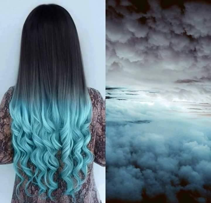 stormy ombre hair | Hair, Hair color, Cool hair color