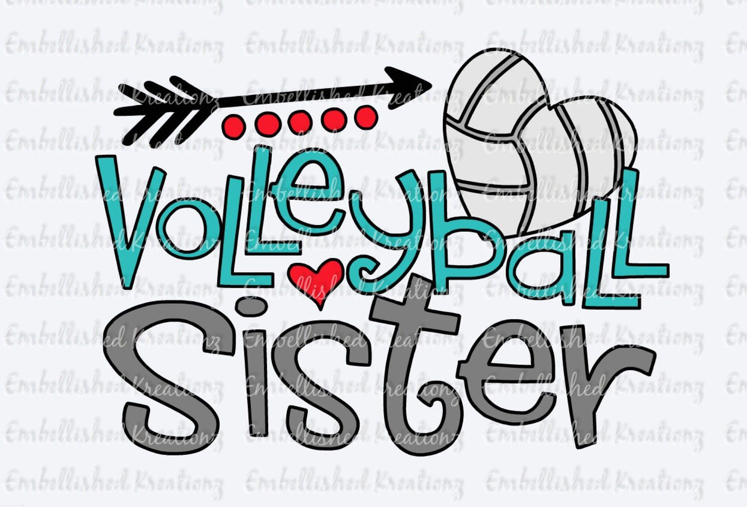 Volleyball Daughter Volleyball Sister With Heart Volleyball Heart Dots Arrow Vinyl Deca Volleyball Shirt Designs Cute Volleyball Shirts Volleyball Mom Shirts
