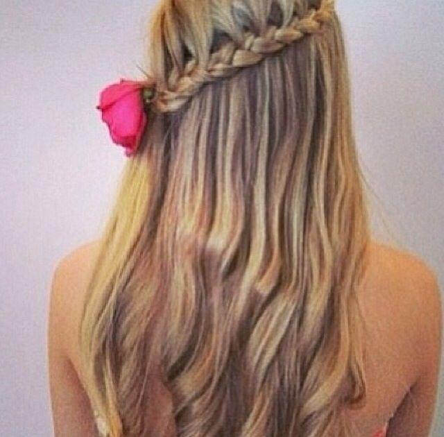 Sideway lace braid