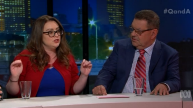 Badham and Price shared a tense exchange over domestic violence.