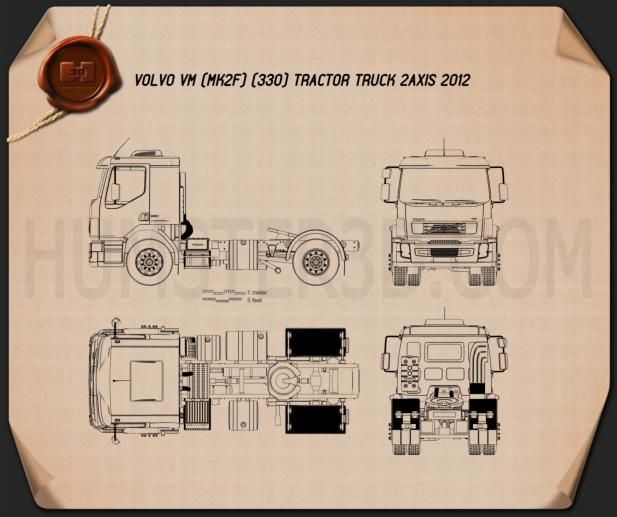 Volvo vm tractor truck 2012 blueprint modellini camion pinterest volvo vm tractor truck 2012 blueprint malvernweather Image collections