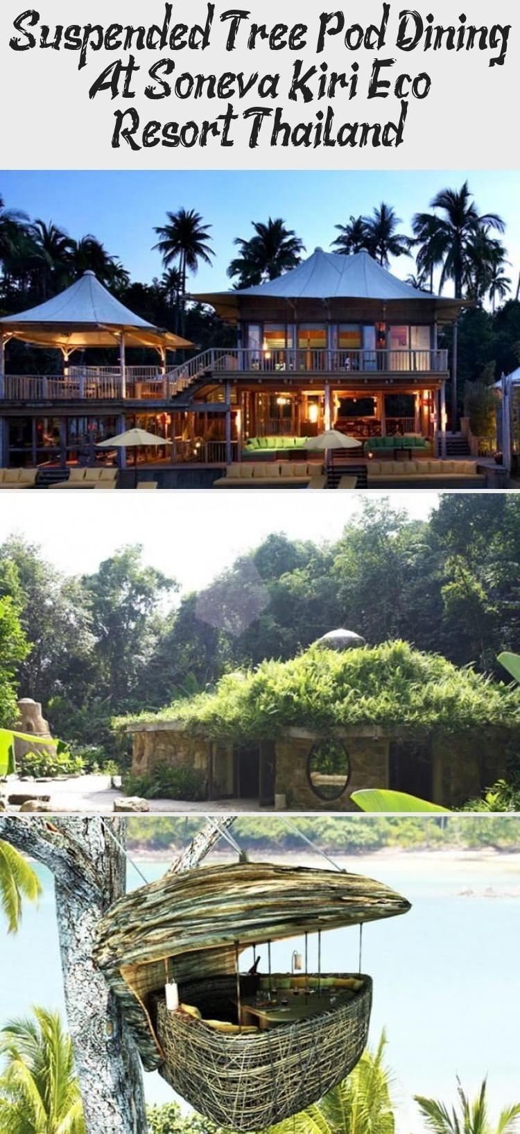 Suspended Tree Pod Dining At Soneva Kiri Eco Resort Thailand