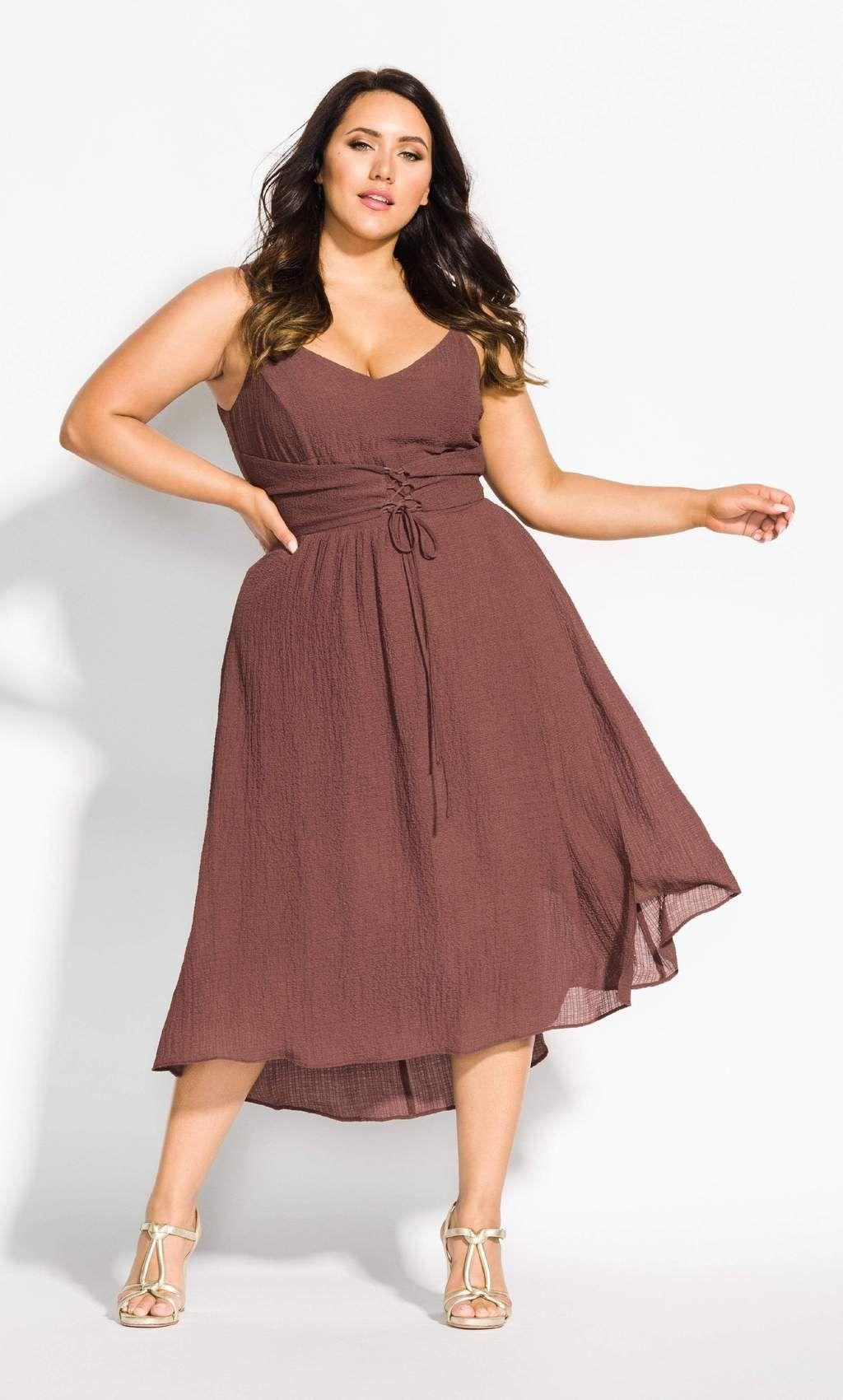 Boho dream dress nutmeg plus size wedding outfits