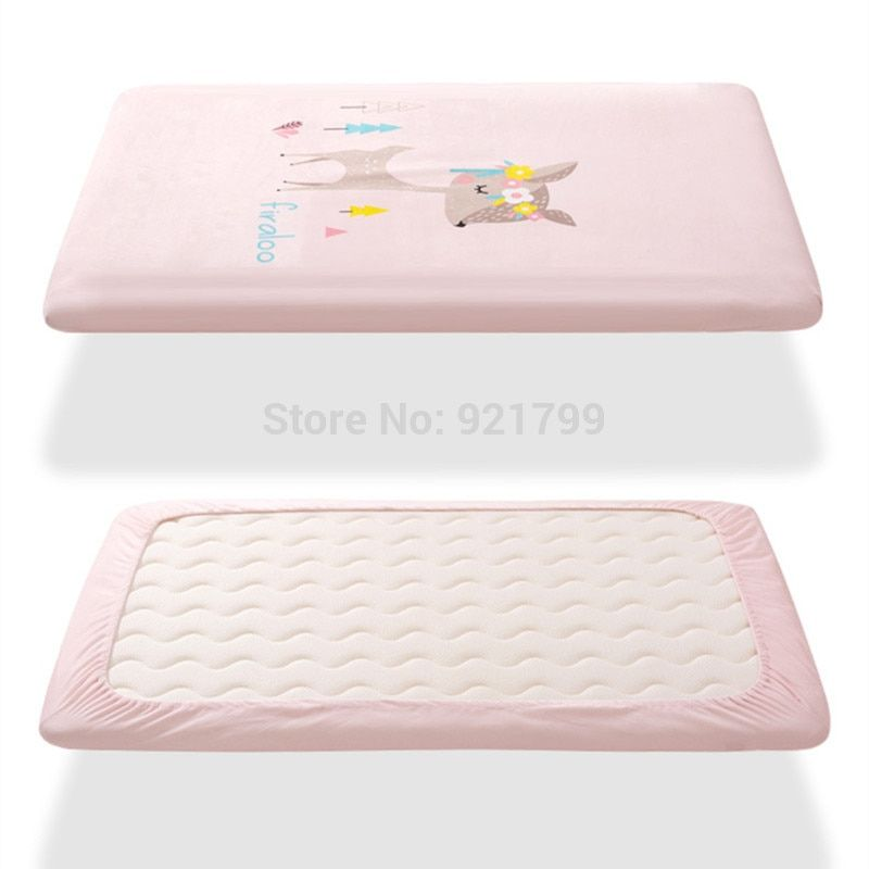Aliexpress Com Buy 100 Cotton Crib Fitted Sheet Soft Baby Bed Mattress Cover Protector Cartoon Sika Deer Newborn Bedd Baby Bed Newborn Bed Fitted Crib Sheet