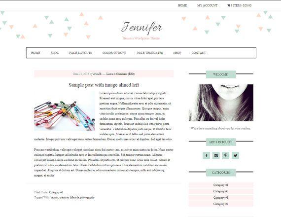 Ecommerce Wordpress Blog / Feminine Wordpress Theme / Woocommerce ...